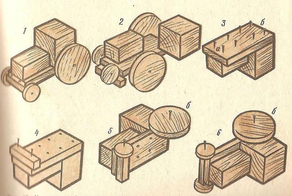 Поделки из деревянных брусков